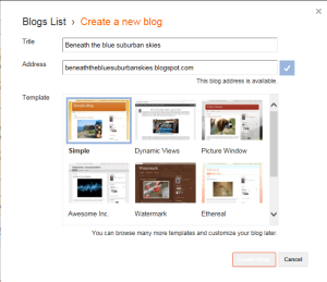 Blogger Choose Temaplate