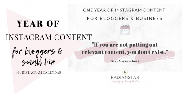 Instagram Content for Bloggers and Small Biz Cover
