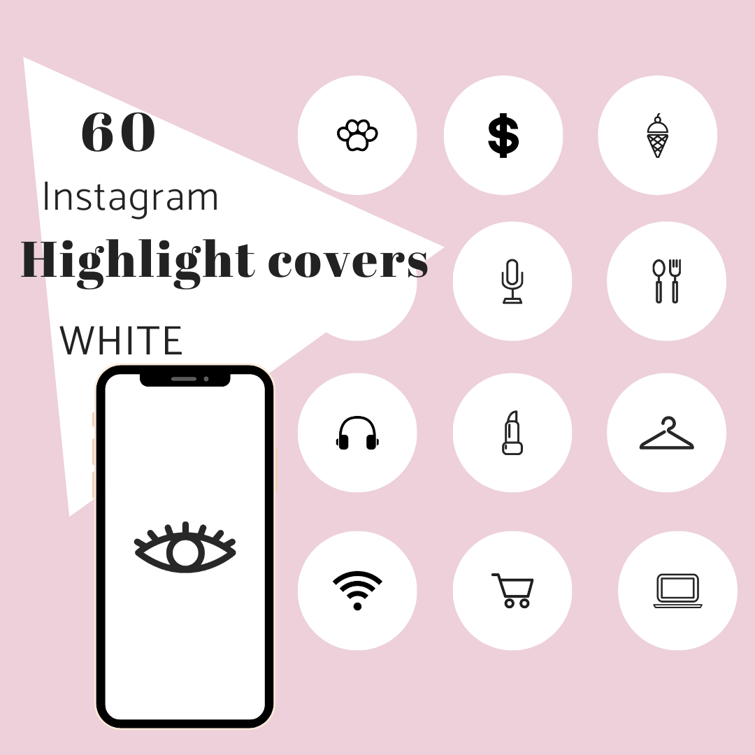 60 Ig Story Highlight Covers White Radianstar