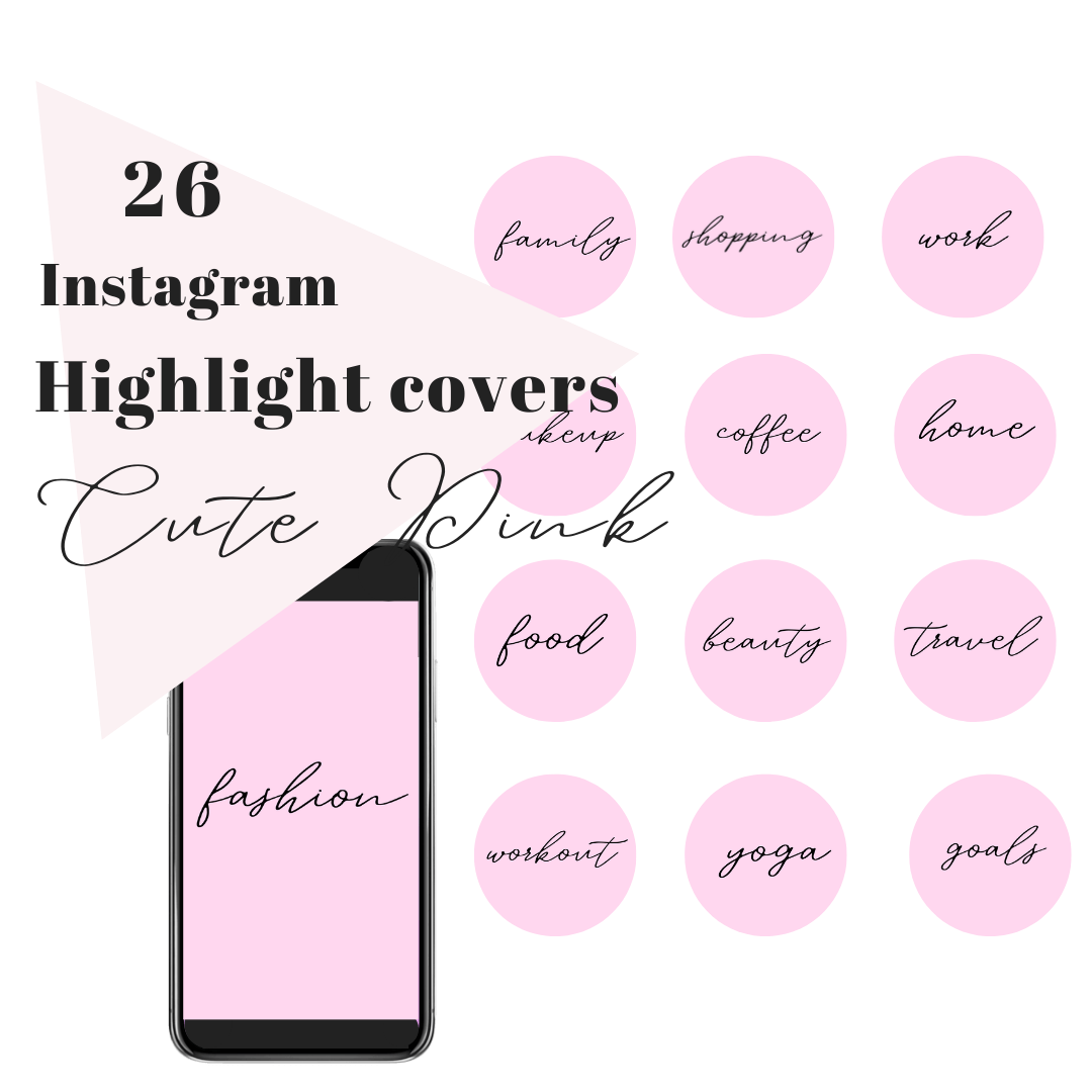 26 Ig Story Highlight Covers Stylish Text Cute Pink Radianstar