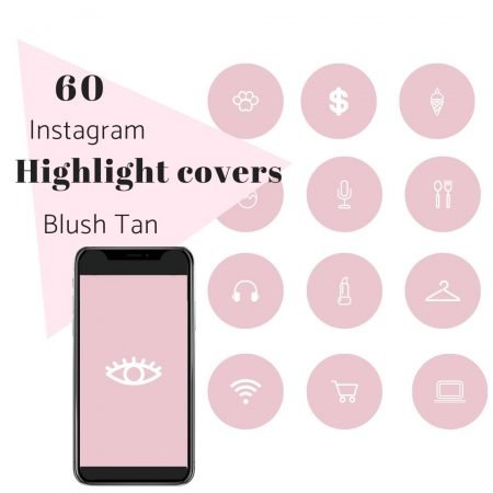 60 IG Story Highlight Covers Nude Pink White Icons