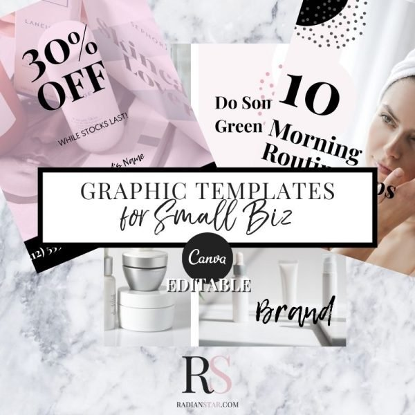 Small Biz Graphic Template Bundle Canva Editable for Small Biz