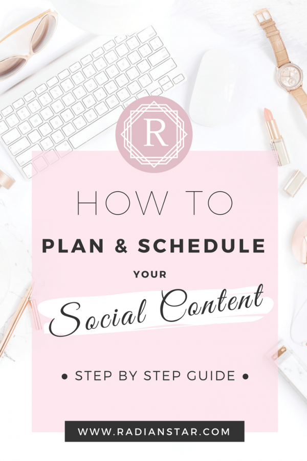 How to plan & schedule your social calendar